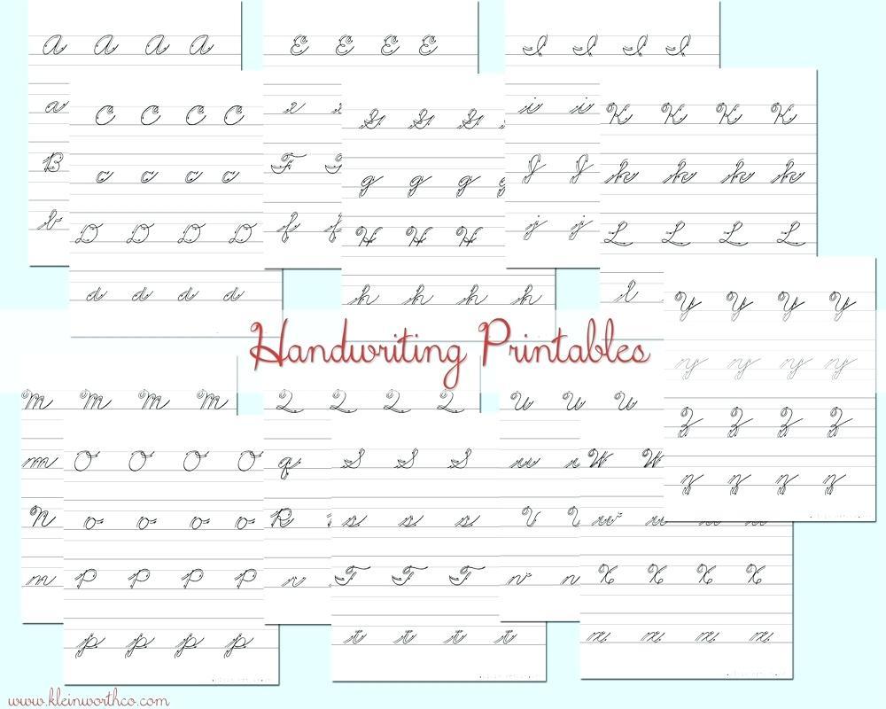 Cursive Writing Worksheets For Left Handed Letterion Pdf Surprising | Printable Handwriting Worksheets Pdf