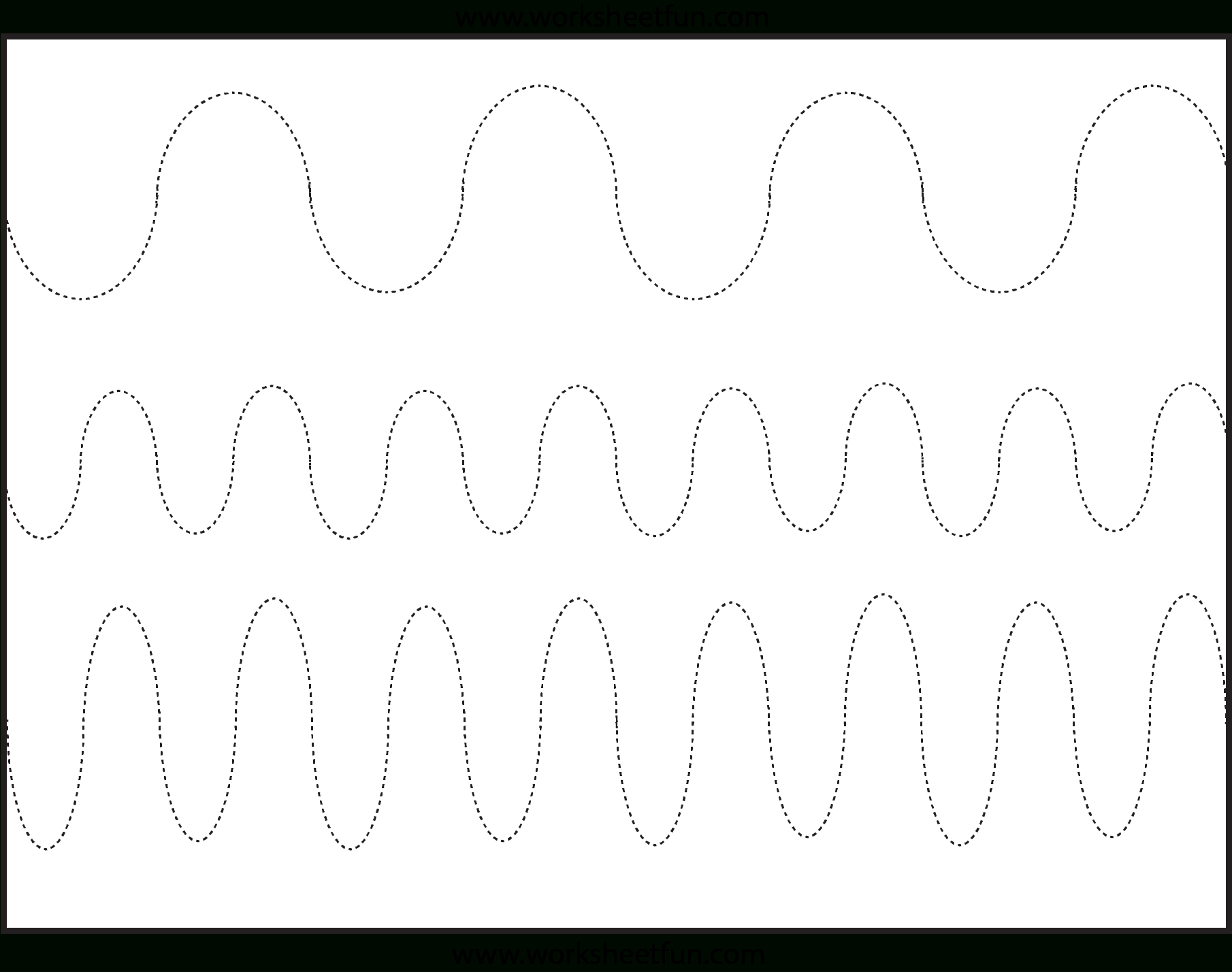 Curved Line Tracing – 3 Worksheets / Free Printable Worksheets | Free Printable Preschool Worksheets Tracing Lines