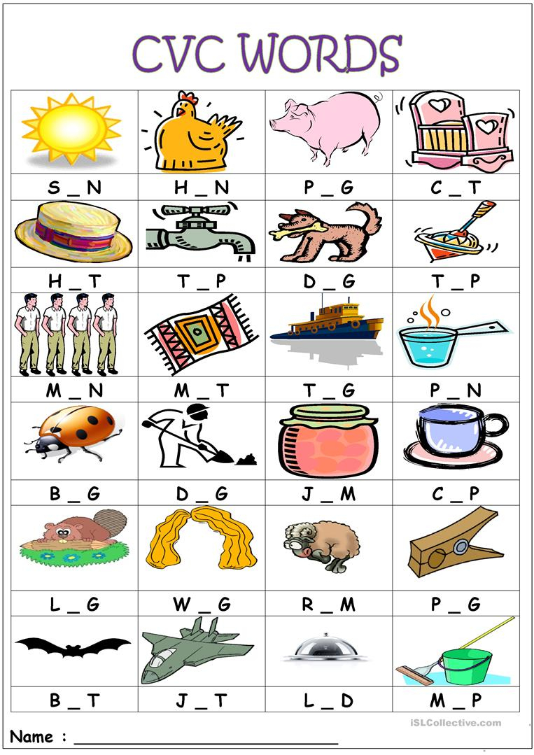 Cvc Words- Medial Sounds Worksheet - Free Esl Printable Worksheets | Cvc Words Worksheets Free Printable