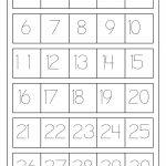 نتيجة بحث الصور عن Tracing Numbers 1 20 | Worksheets | Writing Numbers 1 20 Printable Worksheets