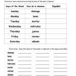 Days Of The Week In Spanish Worksheet   Free Esl Printable | Days Of The Week Printable Worksheets