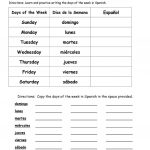 Days Of The Week In Spanish Worksheet   Free Esl Printable | Free Printable Elementary Spanish Worksheets