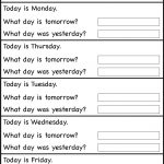 Days Of The Week – Worksheet / Free Printable Worksheets – Worksheetfun | Free Printable Kindergarten Days Of The Week Worksheets