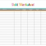 Debt Worksheet Printable   Free Printable #printable Shared | Debt Worksheet Printable