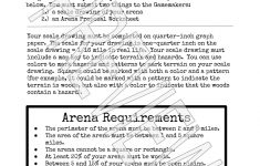 Design An Arena Math Scale Drawing Project | – Math Explorations | Hunger Games Free Printable Worksheets