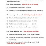 Dialy Routines. Translate From Spanish To English Worksheet   Free | English Worksheets Printables