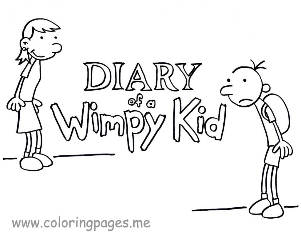 Diary Of A Wimpy Kid Coloring Pages To Print - Coloring Home | Diary Of A Wimpy Kid Printable Worksheets