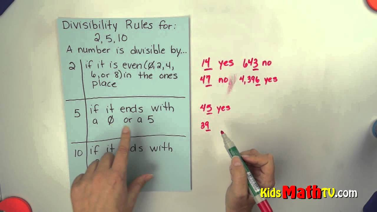 Divisibility Rules If Dividing2, 5 And 10. Teach Kids Easy   Divisibility Worksheets Printable