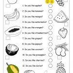 Do You Like Apples?   Fruits Worksheet Worksheet   Free Esl | Free Printable Esl Worksheets