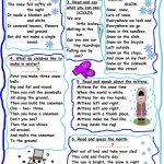 Do You Like Winter Poetry? Worksheet   Free Esl Printable Worksheets | Poetry Worksheets Printable
