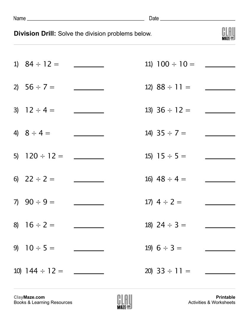 Download Our Division Drills Worksheet For Lots Of Practice… | Ras | Division Drill Worksheets Printable