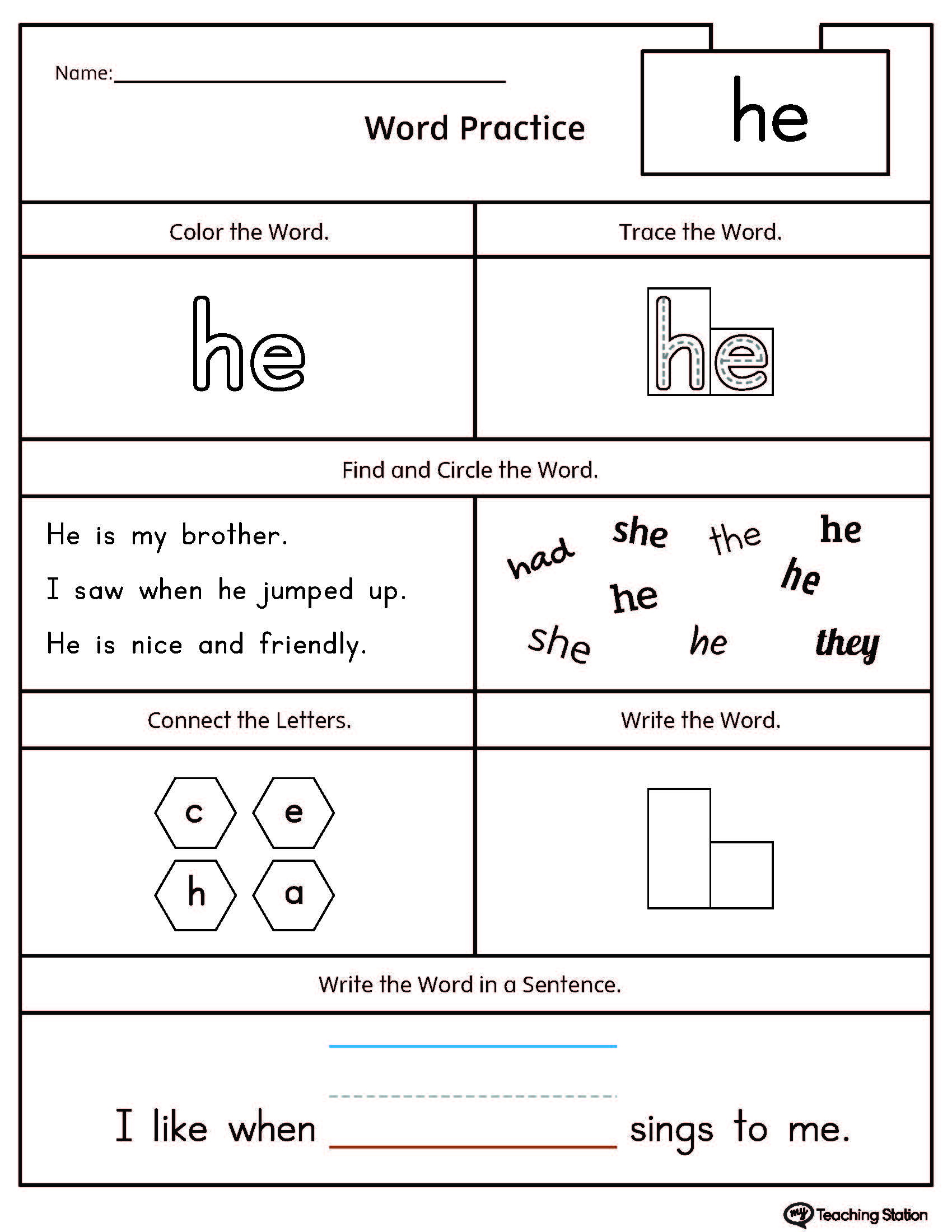 Early Childhood Reading Worksheets | Myteachingstation | Beginning Reading Worksheets Printable