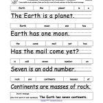 Earth Day Crafts Enchantedlearning. | Grade 1   Free Printable | Free Printable Scrambled Sentences Worksheets