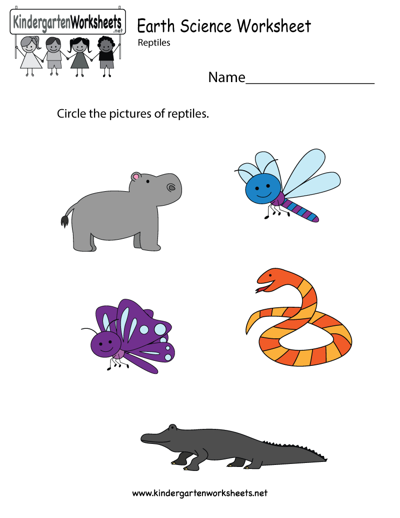 Earth Science Worksheet - Free Kindergarten Learning Worksheet For | Free Printable Worksheets For Kids Science