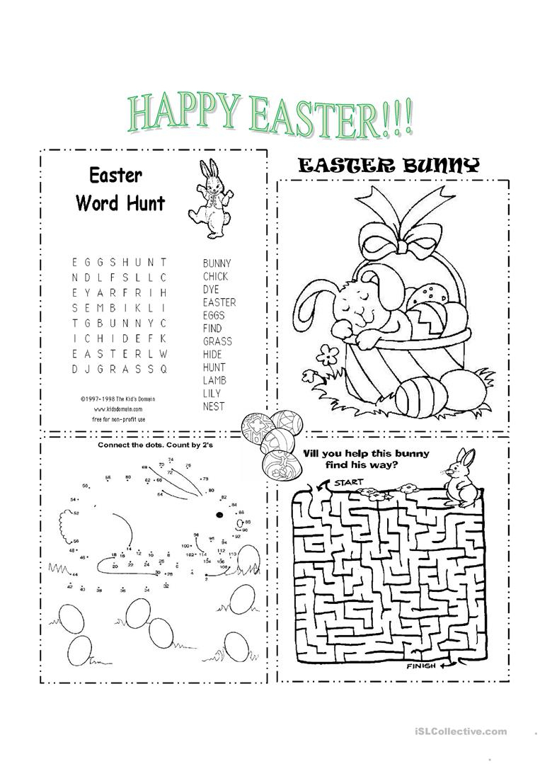 Easter Worksheet - Free Esl Printable Worksheets Madeteachers | Free Printable Easter Activities Worksheets