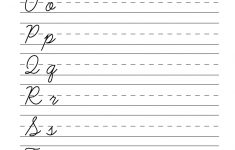 Easy Cursive Writing Worksheet Printable | Handwriting | Cursive | Printable Cursive Worksheets Az