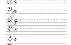 Printable Cursive Worksheets Az