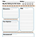 Elementary Book Report Template On Book Report Worksheet Printable | Printable Book Report Worksheets