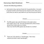 Elementary Math Word Problems Worksheet   Free Printable Educational | Math Problems Printable Worksheets