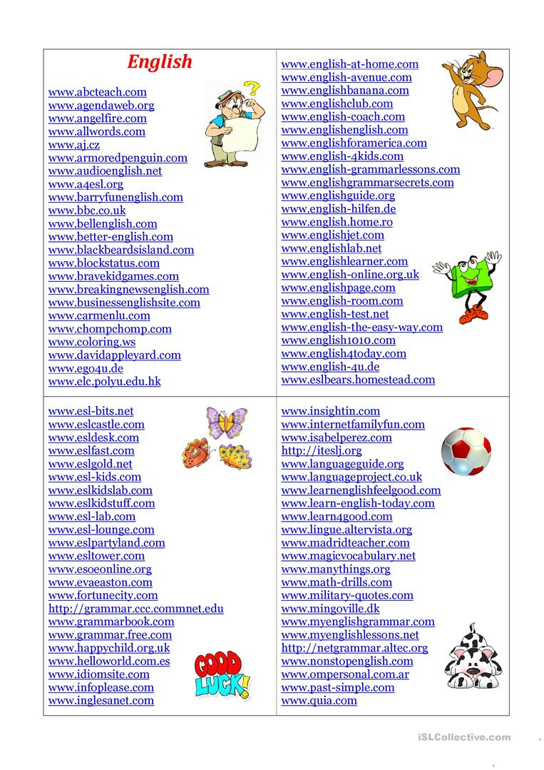 English Sites Worksheet - Free Esl Printable Worksheets Madeteachers | Teacher Websites Free Printable Worksheets