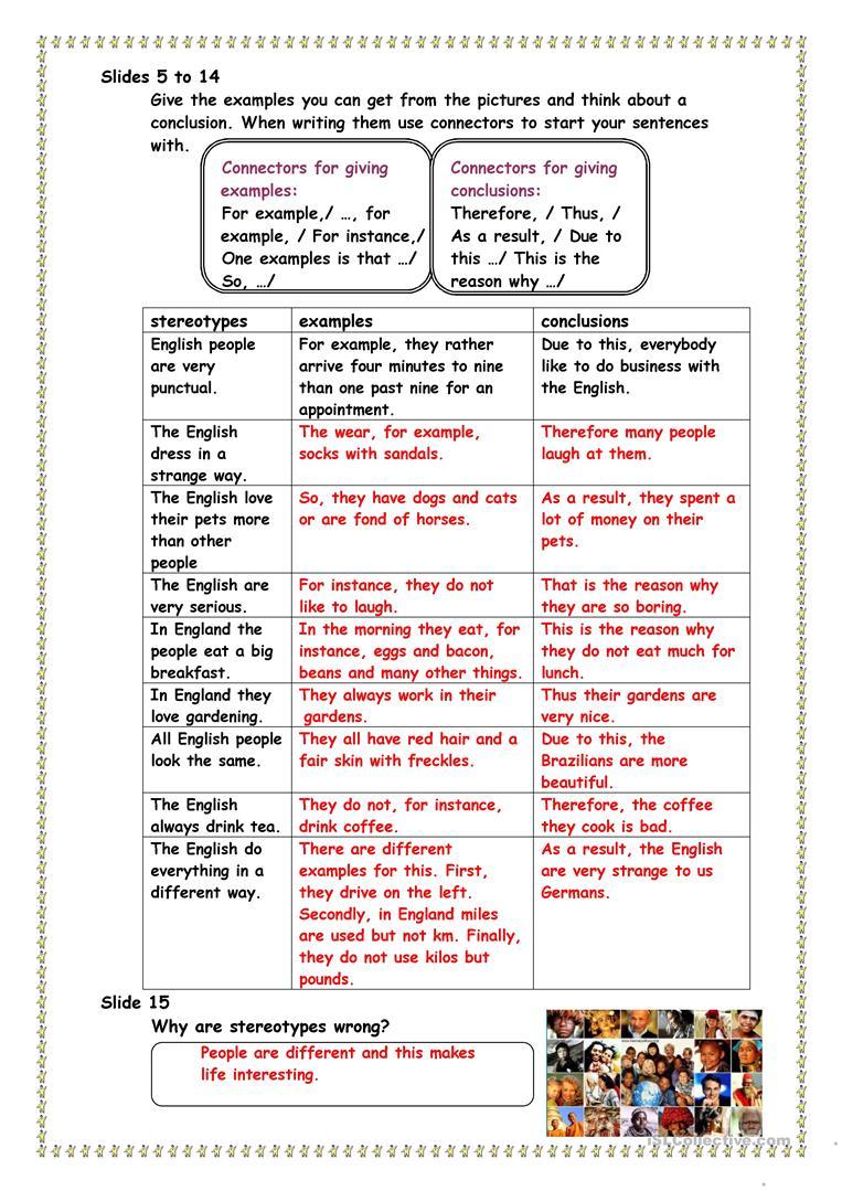 English Stereotypes Worksheet - Free Esl Printable Worksheets Made | Stereotypes Printable Worksheets