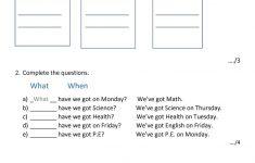 English Test Printable Worksheets