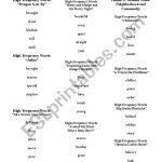 English Worksheets: Houghton Mifflin High Frequency Words | Houghton Mifflin Printable Worksheets
