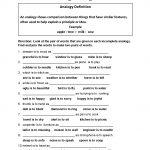 Englishlinx   Analogy Worksheets   Analogy Worksheets For Middle School Printables