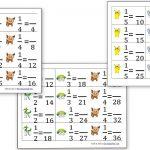 Equivalent Fraction Cards (Pokemon Theme)   Homeschool Den | Pokemon Worksheets Printable