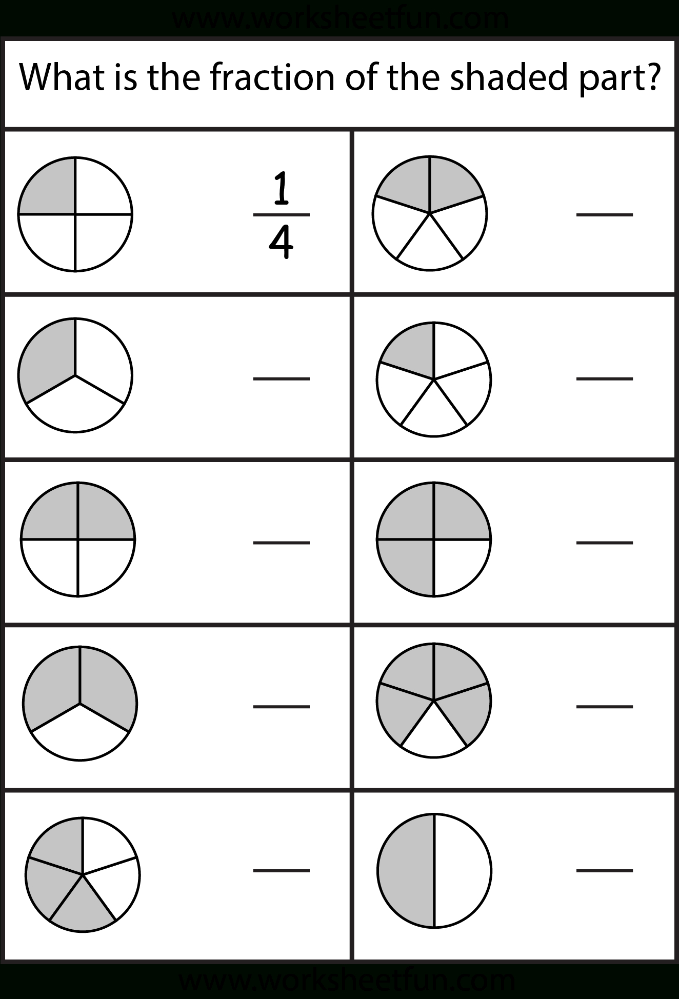Equivalent Fractions Worksheet / Free Printable Worksheets | Printable Fraction Worksheets