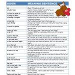 Essential Idioms Worksheet   Free Esl Printable Worksheets Made | Advanced Esl Grammar Printable Worksheets