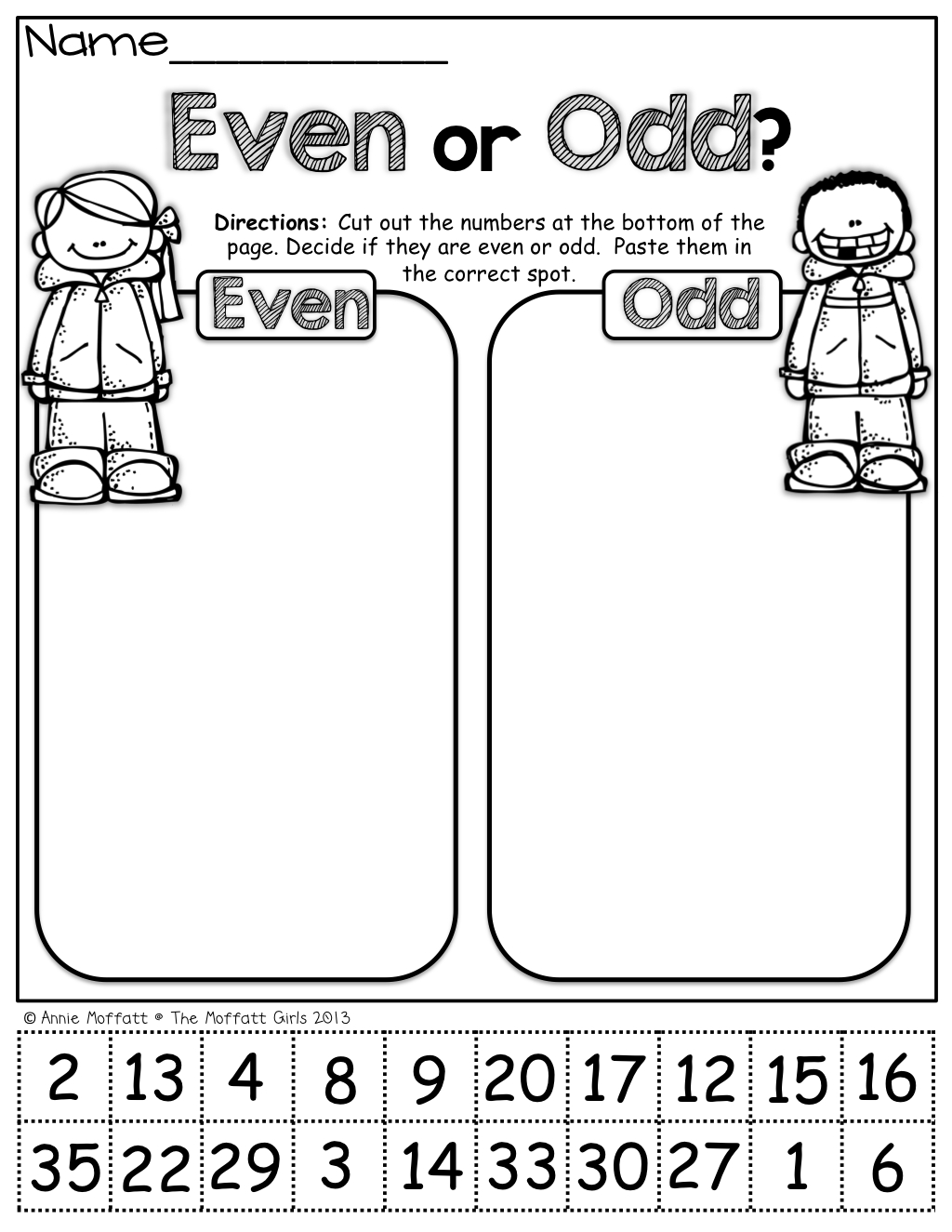 Even Or Odd (Cut And Paste) | Fall | Math School, 1St Grade Math | Free Printable Odd And Even Worksheets
