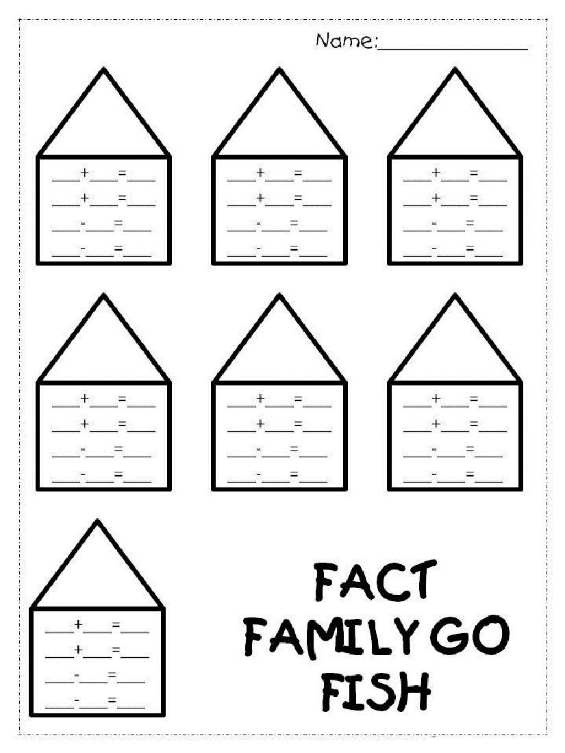 Fact Family Worksheets 1St Grade | Kiddo Shelter | Free Printable Multiplication Division Fact Family Worksheets