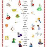 Fairy Tales.matching. Worksheet   Free Esl Printable Worksheets Made | Fairy Tale Printable Worksheets