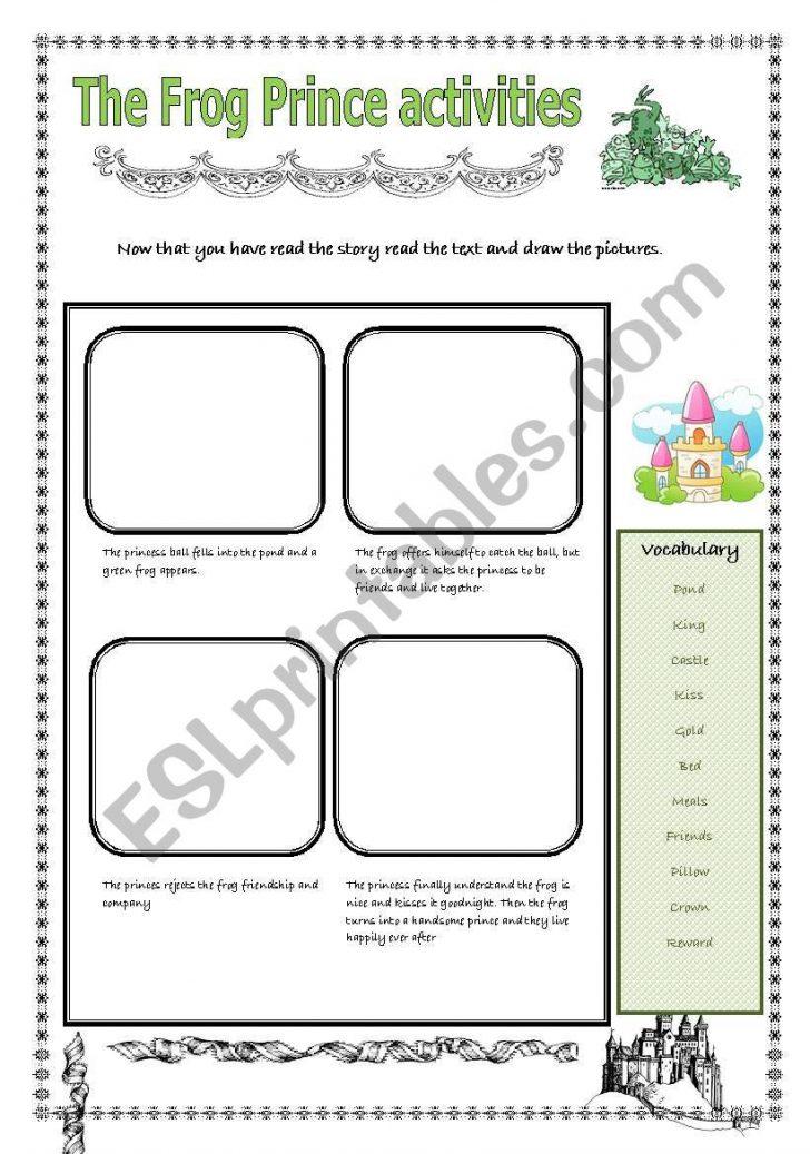 The Frog Prince Worksheets Printable