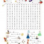 Fairy Tales.wordsearch Worksheet   Free Esl Printable Worksheets | Fairy Tale Printable Worksheets