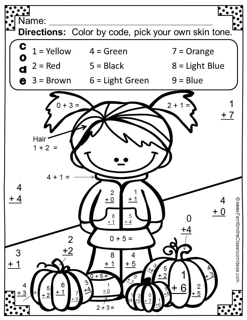 Fall Math Worksheets For Pre-K To 1St Grade - Frugal Mom Eh! - Free | Free Printable Fall Math Worksheets