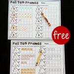 Fall Ten Frame Printables   The Stem Laboratory | Frame Games Printable Worksheets