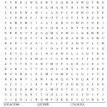 Fall Word Search Free Printable Worksheet | Hard Word Searches Printable Worksheets