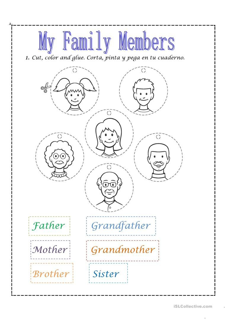 Family Members Worksheet - Free Esl Printable Worksheets Made | Free Printable Worksheets For Preschool Teachers