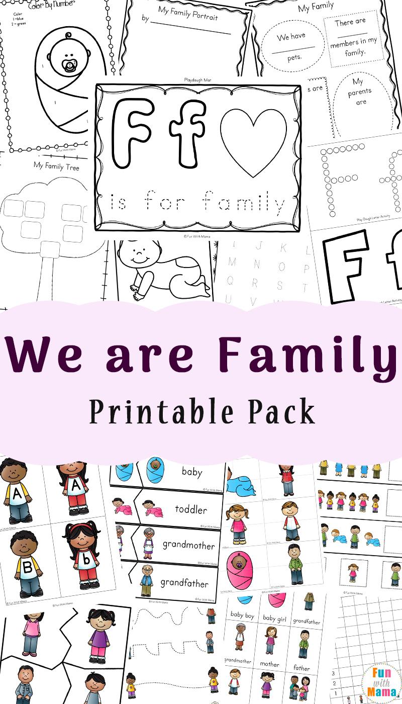 Family Theme Preschool And Family Worksheets For Kindergarten - Fun | Family Printable Worksheets