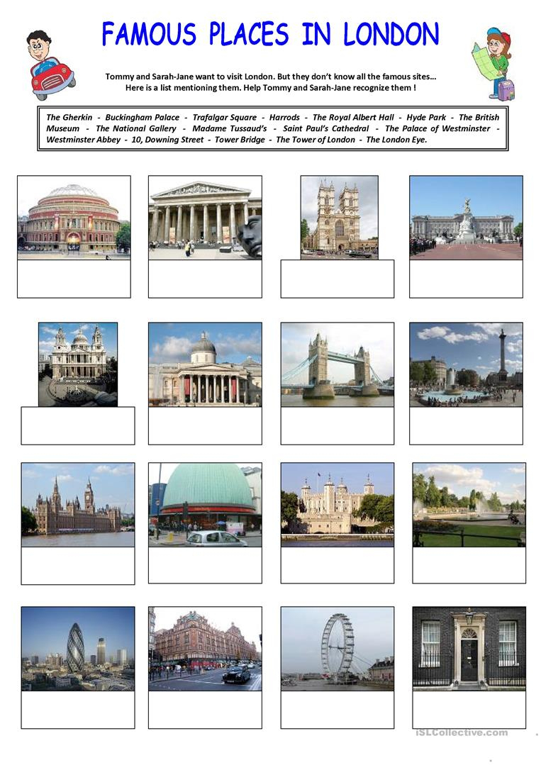 Famous Places In London Worksheet - Free Esl Printable Worksheets | London Worksheets Printable