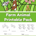 Farm Animal Addition And Subtraction Worksheets   The Moments At Home | Farm Animals Printable Worksheets
