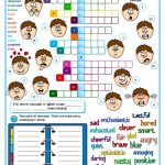Feeling And Emotions Worksheet   Free Esl Printable Worksheets Made | Feelings And Emotions Worksheets Printable