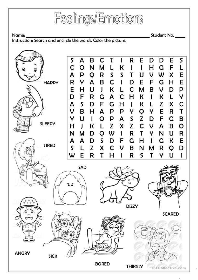 Feelings/emotions Worksheet - Free Esl Printable Worksheets Made | Feelings And Emotions Worksheets Printable