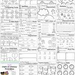 First Grade Worksheets For Spring   Planning Playtime | First Grade Printable Worksheets