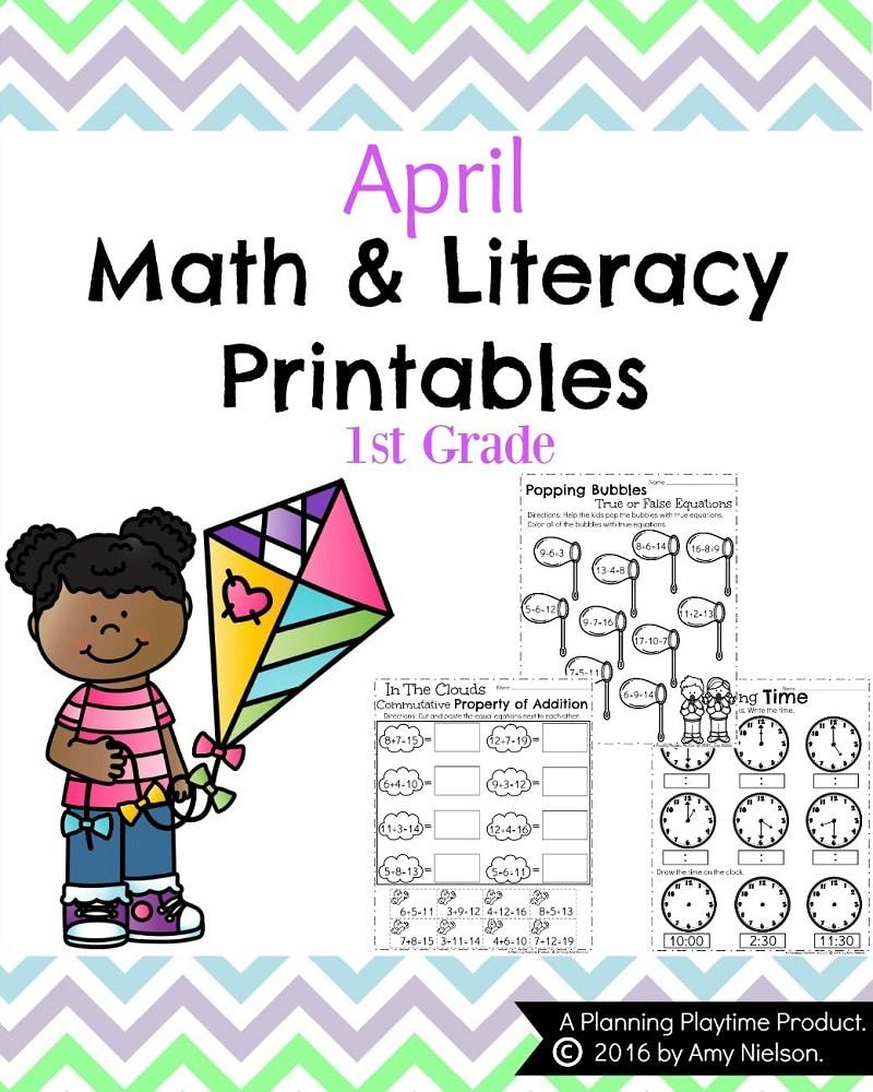 First Grade Worksheets For Spring - Planning Playtime | Spring Break Printable Worksheets