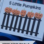 Five Little Pumpkins   Free Rhyme Booklet | Teaching Mama's Posts | Five Little Pumpkins Printable Worksheet