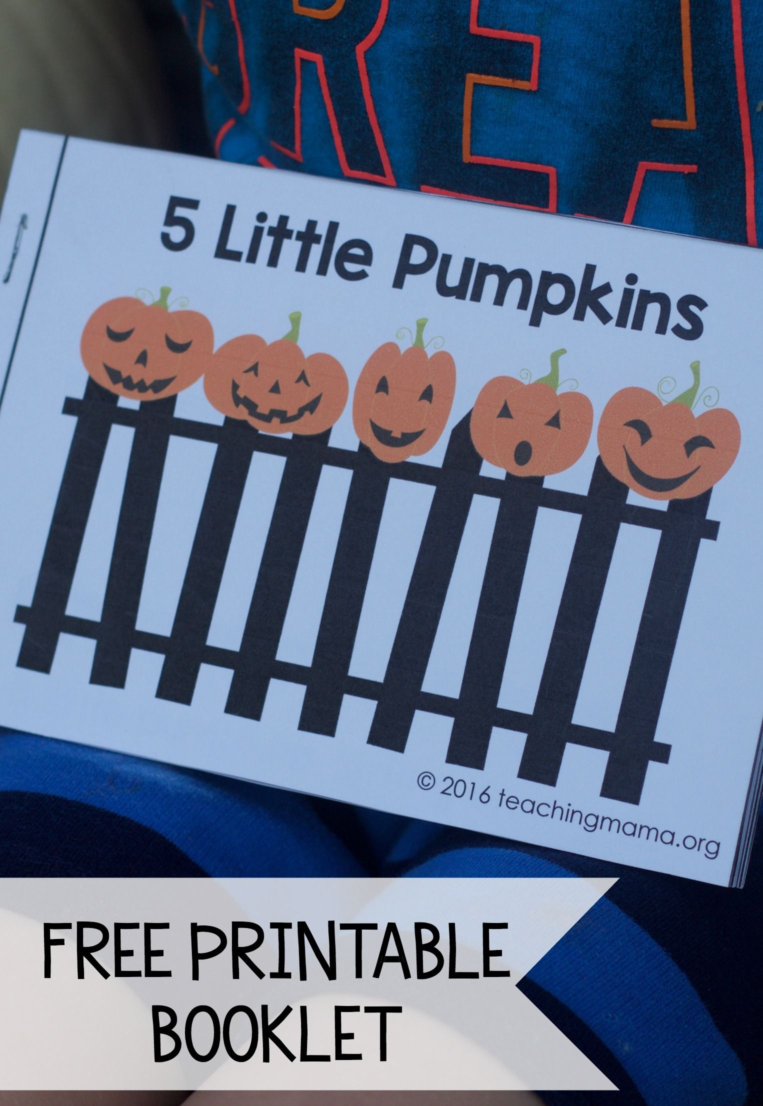 Five Little Pumpkins - Free Rhyme Booklet | Teaching Mama's Posts | Five Little Pumpkins Printable Worksheet