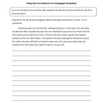 Fixing Paragraphs With Run On Sentences Worksheets | Englishlinx | Proofreading Worksheets Middle School Printable